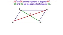 4-4. The Diagonals of a Parallelogram