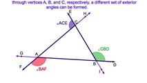 3-18. The Sum of the Exterior Angles of a Triangle