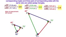 7-8. The Corresponding Perimeters of Similar Triangles