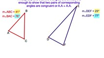 7-7. Proving Triangles Similar Using the Ratios of Two Pairs of Sides and their Respective Included Angles