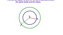 9-9. The Locus of Points Equidistant from Two Concentric Circles