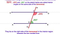 3-3. Parallel Lines - The Interior Angles on the Same Side of a Transversal