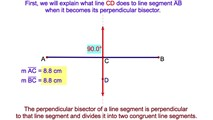 9-3. The Locus of Points Equidistant from the Endpoints of a Line Segment