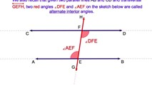 3-2. Parallel Lines - The Alternate Interior Angles