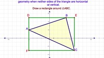8-22. Finding the Area of a Triangle Whose Sides are Neither Vertical nor Horizontal in Coordinate Geometry (Part II)