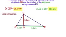 7-13. The Relation between the Altitude of a Right Triangle and the Segments on the Hypotenuse