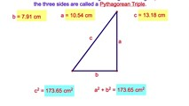 7-16. Pythagorean Triples and Their Multiples