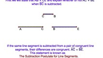 2-10. Using The Reflexive and Subtraction Postulates for Line Segments to Prove Two Congruent Triangles