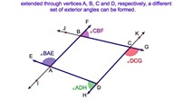 3-19. The Sum of the Exterior angles of a Quadrilateral