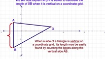 8-20. Finding the Area of a Triangle When One Side is Either Vertical or Horizontal in Coordinate Geometry