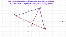 8-21. Finding the Area of a Triangle Whose Sides are Neither Vertical nor Horizontal in Coordinate Geometry (Part I)