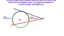 6-20. The Angle Formed by a Tangent and a Secant Drawn to a Circle from the Same External Point