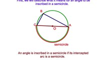 6-12. If an Angle is Inscribed in a Semicircle