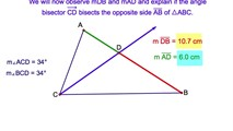7-3. The Ratios Formed by an Angle Bisector of a Triangle