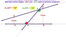 3-25. If Two Lines are Cut by a Transversal and a Pair of Alternate Interior Angles is Congruent